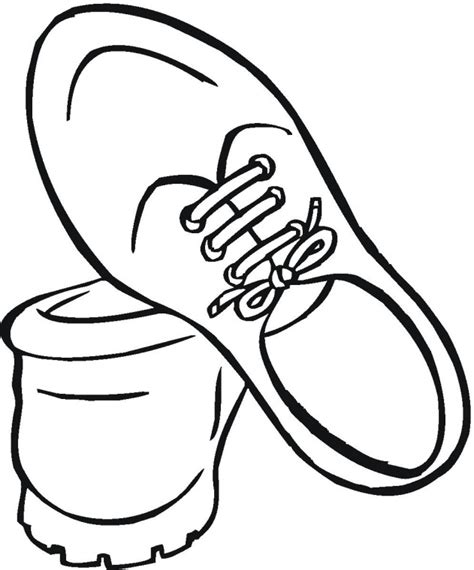 Running Shoes Coloring Pages running shoe coloring page clipart best