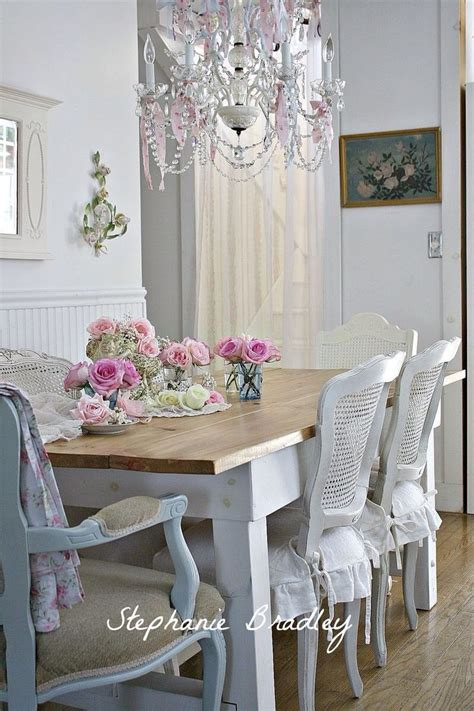 Shabby Chic Dining Room Tables Shabby Chic Dining Decorating Ideas