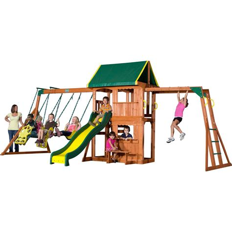 8 swing set the 8 best wooden swing sets and playsets of 2016