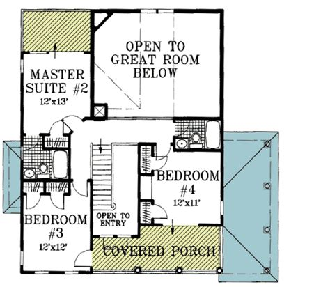 2 story great room floor plans plan w13034fl beach house plan with two story great room
