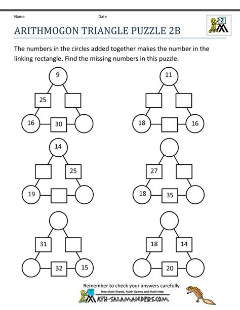 13 best images about second grade math puzzles on