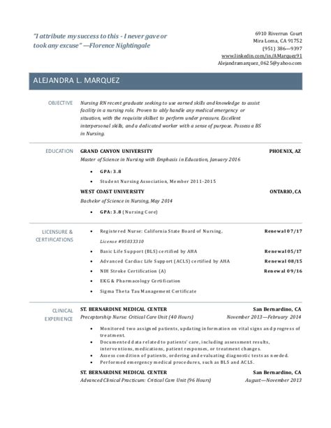 nursing resume samples for new graduates best solutions of resume on