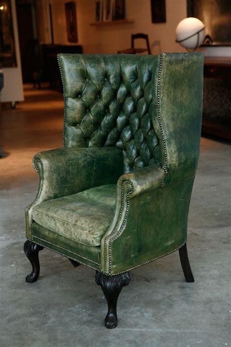 carlton chesterfield library reading wing back chair green leather wing back chair where the heart is