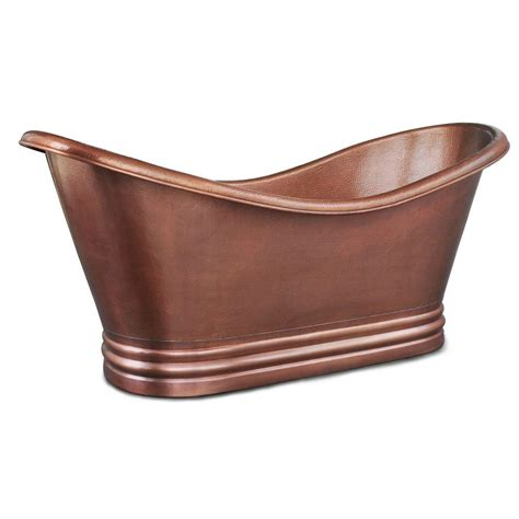 bathtubs copper bathtub bathtubs compare prices at nextag sinkology euclid handmade copper freestanding slipper tub