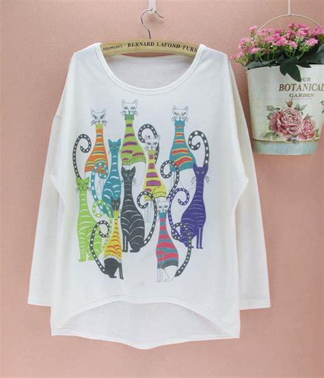 pattern t shirts wholesale aliexpress com buy novelty lovely cats pattern t shirt