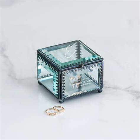 wedding jewellry box personalized vintage glass jewelry box
