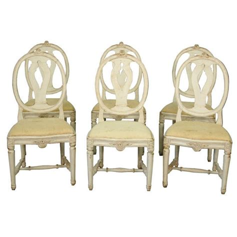 oval back dining room chairs swedish set of 6 oval back dining chairs at 1stdibs