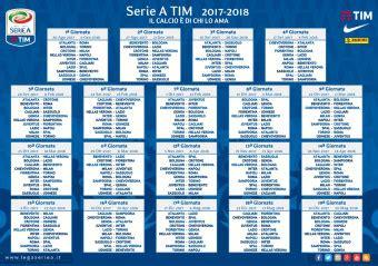 H Calendario Serie A Calendario Cionato Calcio Serie A 2017 2018 Con Pdf