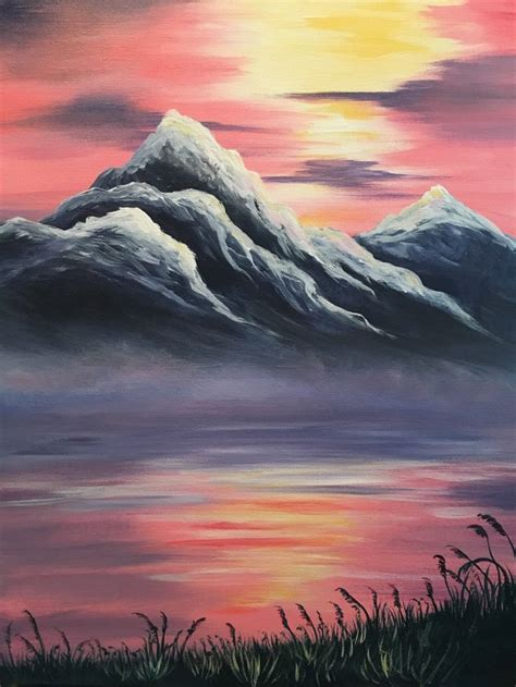 acrylic painting mountains 25 b 228 sta paint and sip id 233 erna p 229