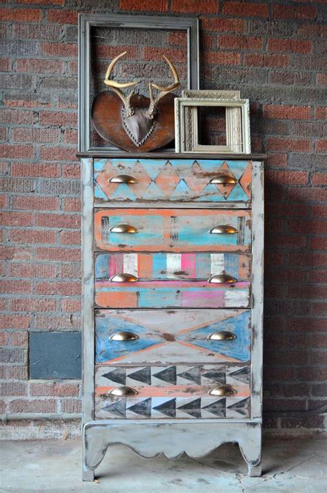 wohnung vintage painted furniture painted dresser tribal southwest