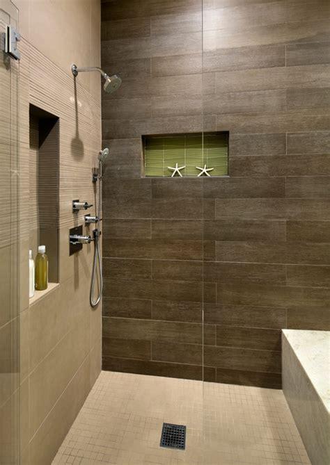 brown horizontal tile   shower
