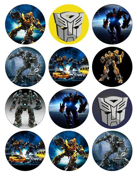 Cupcake Toppers Karakter Tema Bumblebee Transformers transformers birthday and cupcake toppers on
