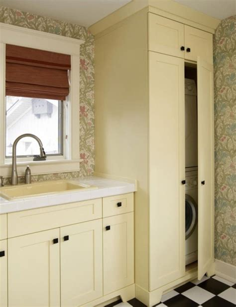concealed laundry room design decor photos pictures small laundry hidden cabinet
