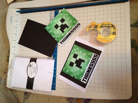Minecraft Thank You Card Template by 17 Best Images About Minecraft On