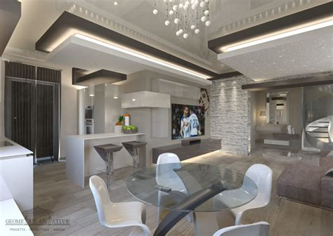 arredi moderni interni ristrutturazione soggiorno moderno di geometrie abitative