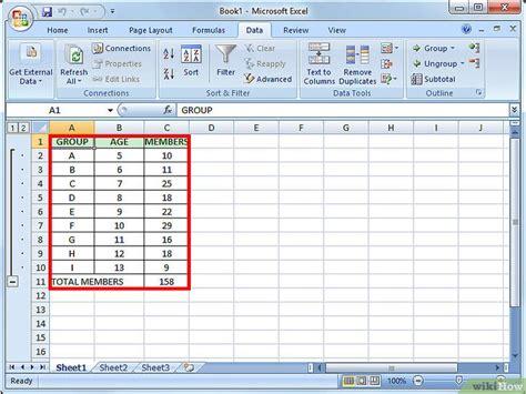 como hacer layout en excel gegevens groeperen in excel wikihow