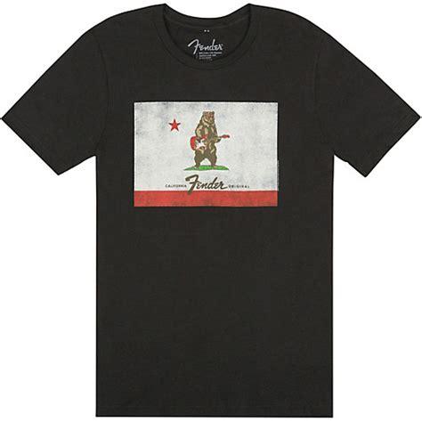 Kaos T Shirt Fender Black 01 fender fender flag t shirt black xx large guitar