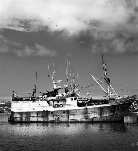 photographies de bateaux noir  blanc port de peniche