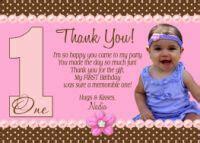 1st Birthday Thank You Card Wording First Birthday Card Saying Quotes