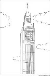 ausmalbild big ben oder elizabeth tower londen