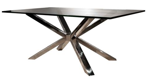 Modern Dining Table Base Modern Cointet Rectangle Dining Table Base Stainless Steel Zuri Furniture