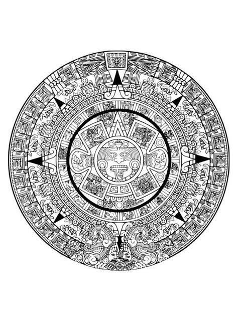 imagenes aztecas para descargar dibujo para colorear calendario azteca img 29116