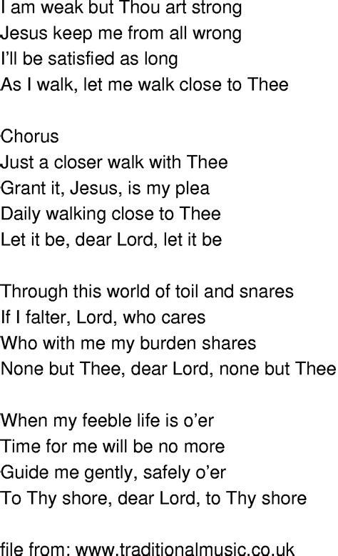 printable lyrics to just a closer walk with thee old time song lyrics just a closer walk with thee