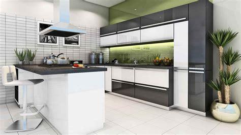 kitchen modular ideas white modular kitchen idea with nice clours combination scheme