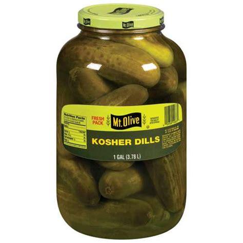 kosher pickles mt olive kosher dills pickles 1 gal condiments sauces