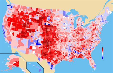 usa election map datei 2004 usa election by county map percentage png