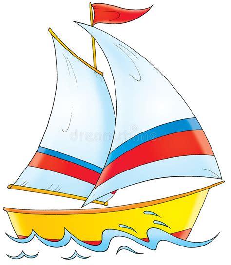 children s boat cartoon yacht stock illustration illustration of drawing
