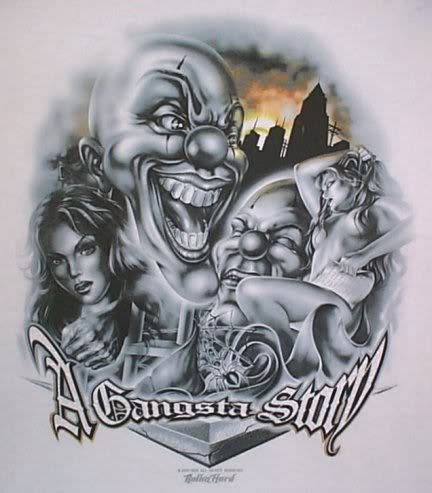 payaso tattoo designs arte chicano payaso imagui chicano