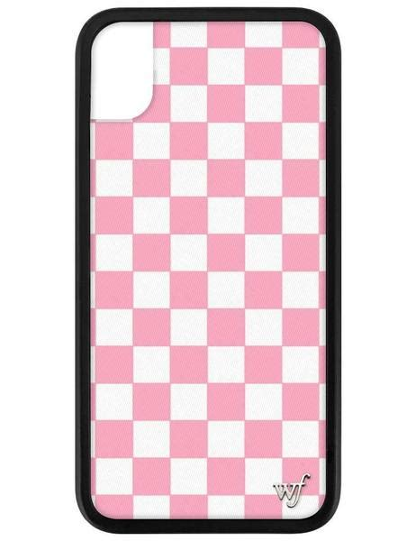 pink checkers iphone xr wildflower cases