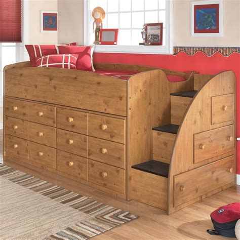 Stages Loft Bed by Stages Loft Bed With Right Steps Chest Storage By
