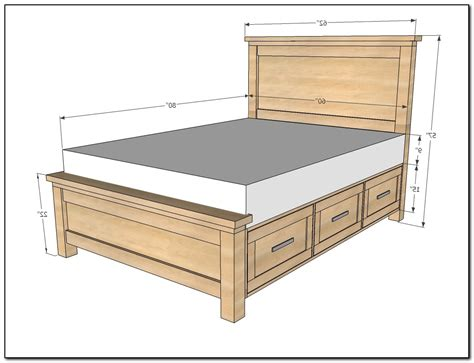 bed plans queen bed frame with drawers plans download page home