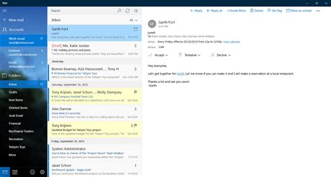 Office 365 Mail App For Windows Outlook Mail And Calendar App Gets Updated For Windows 10