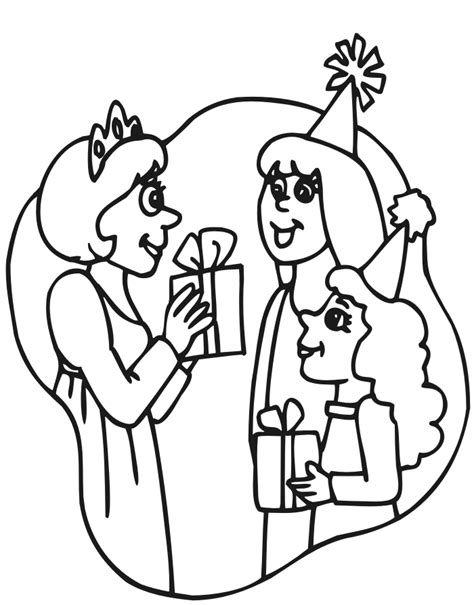 princess party coloring page