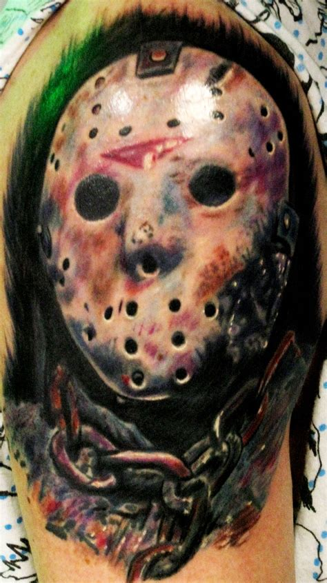 jason voorhees tattoo jason voorhees badass ink friday