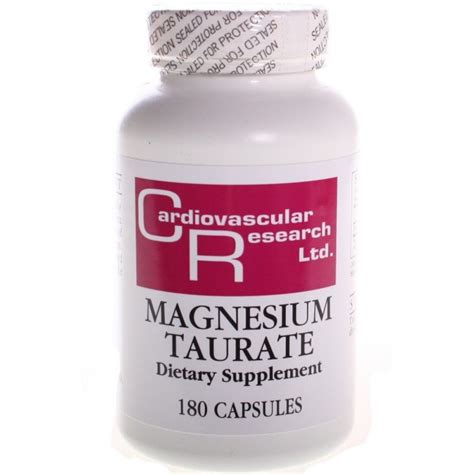 Magnesium Taurate Detox by Cardiovascular Research Magnesium Taurate Elemental 125