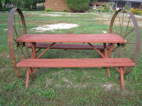 vintage redwood picnic table vintage picnic table shop collectibles daily