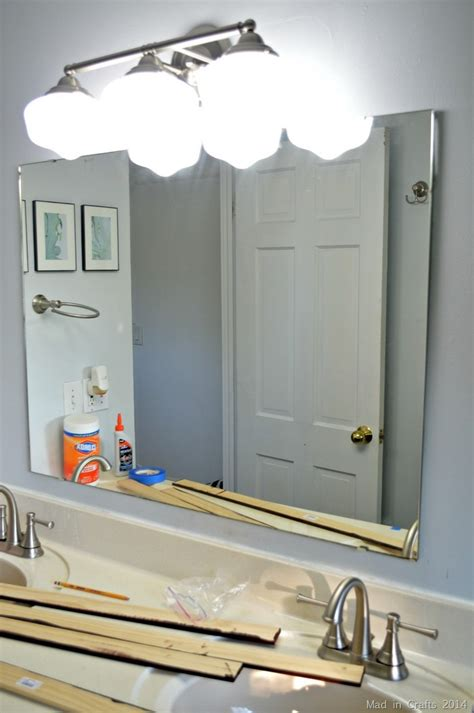 make your own bathroom mirror frame steps to make your own framed bathroom mirror decozilla