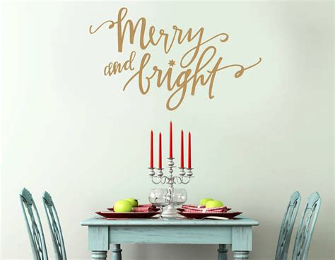 merry wall stickers gold merry and bright wall sticker contemporary wall stickers