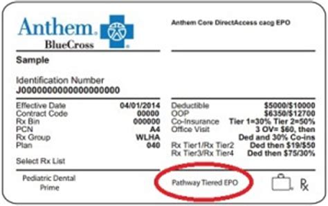 new anthem blue cross epo member cards