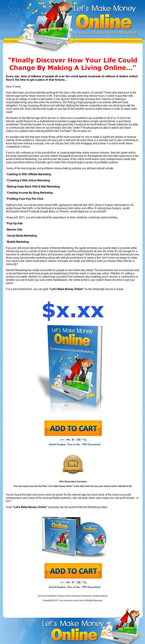 Make Money Online Plr Ebook - lets make money online plr ebook internet marketing updated