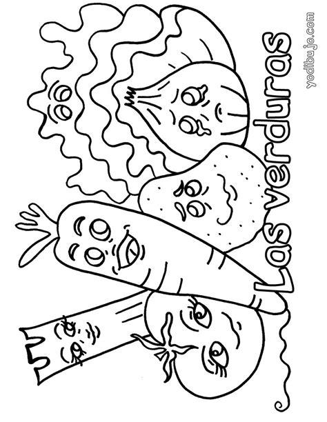 dibujos para colorear de frutas y verduras frutas y verduras para colorear e imprimir www imgkid
