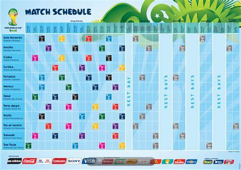 Calendario Mundial 2014 Calendario Y Horarios Mundial 2014 De Brasil