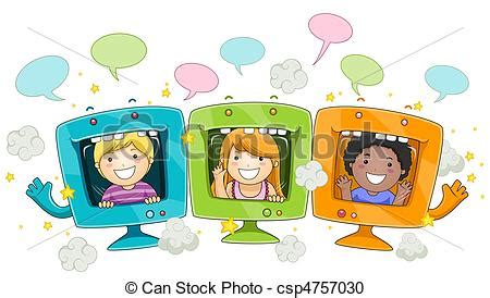 children s painting free for pc stock illustration of computers illustratration