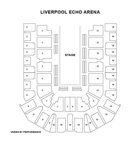 echo arena floor plan liverpool echo arena seat plan for strictly come dancing