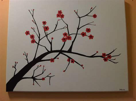 cherry blossom branch speed painting simple tree branches painting www pixshark images