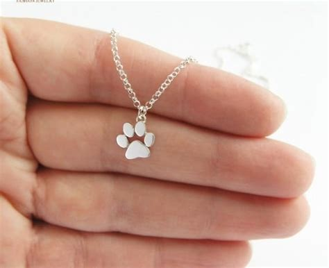 And Paw Necklace cat and paw print necklace